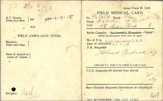 Field Ambulance Card 1