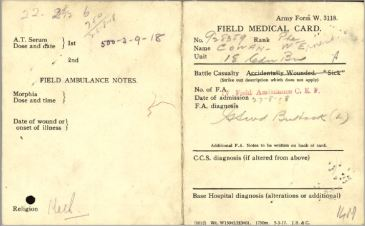 Field Ambulance Card 1