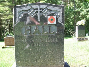 53409 Henry Edmond HALL (30th Wellington) Harriston Cemetery 1880-1958
