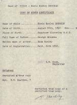 Copy of Birth Certificate ER Brooks 53319