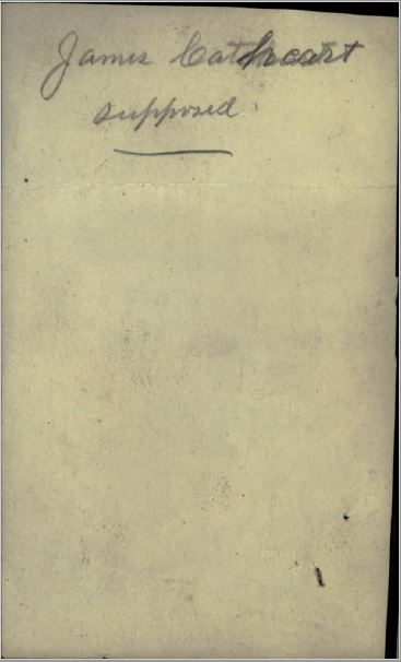 James Cathcart Photograph Supposed reverse
