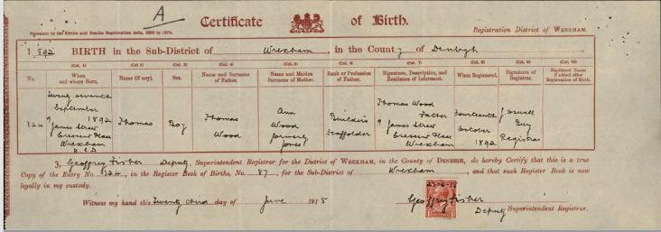 Cert of Birth 1