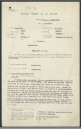 Medical Report on an Invalide Croley Dan 54105 Page 1