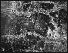 Aeriel reconnasance photograph of the St. Eloi Craters.