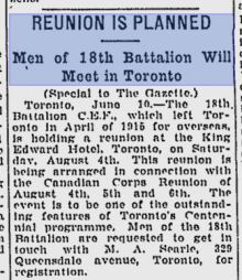 montreal gazette june 11 1934 reunion is planned