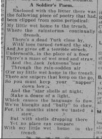 GDR December 8 1915 Page 3 Places Cross on Galt Mans Grave Letter by Petit re Spooner Part 2