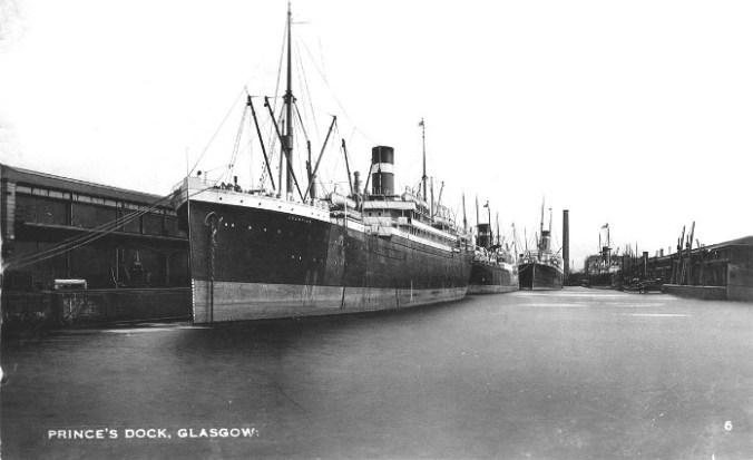 Clyde-Princes-Dock-Allen-Line-Ships