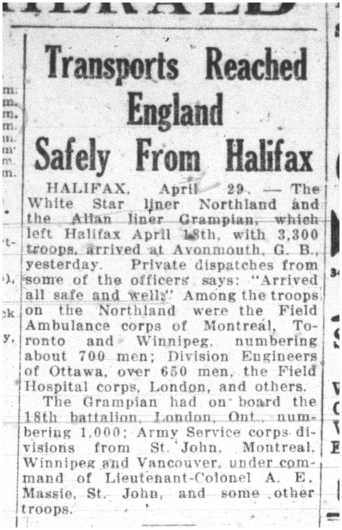 Halifax Herald Transports Reached England Safely from Halifax May 1 1915 Page 15