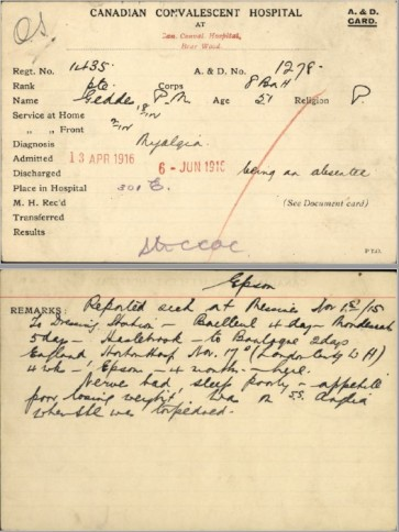 PM Geddes card re Anglia
