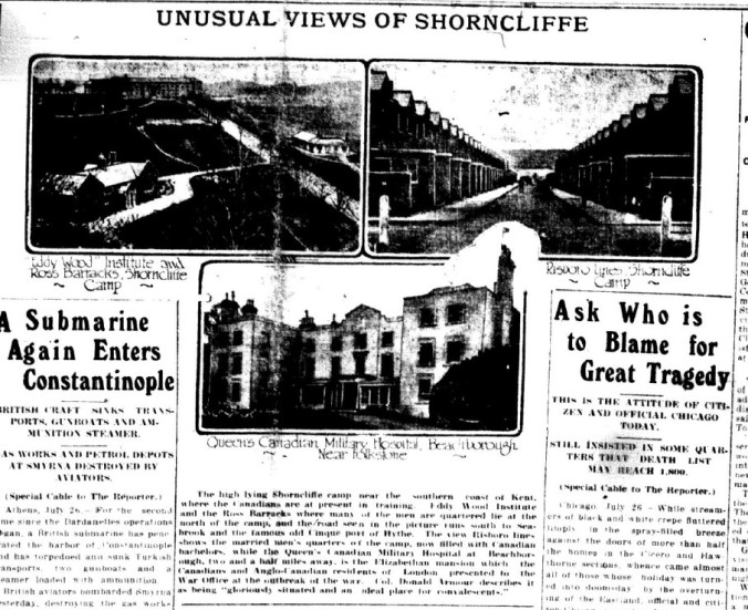 GDR July 26 1915 Page 1 Unusual Views of Shorncliffe