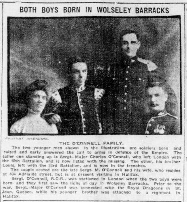 Both Boys Born at Wolsley Barracks OConnell London Advertiser October 31 1916 Page 1