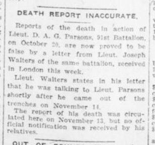 Death Report Inaccurate London Advertiser December 5 1916 Page 13
