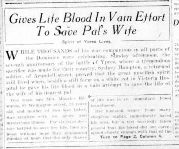 Source: London Advertiser.April 24, 1922. Page 1.