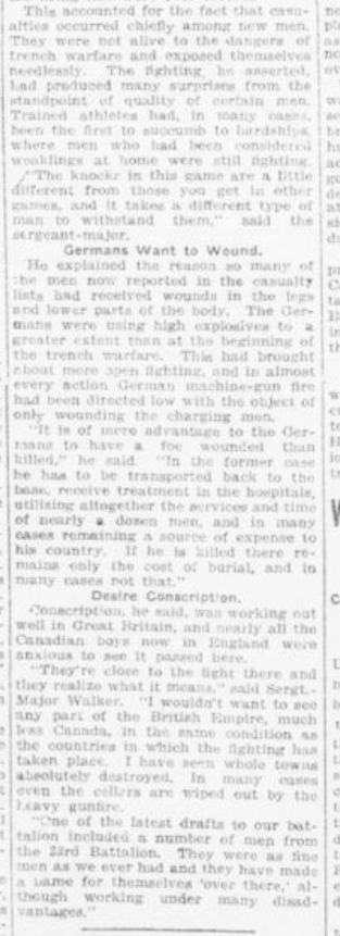 Home on Furlough He Re Echoes Need for More Recruits Sgt Walker Part 2 London Advertiser October 14 1916 Page 2