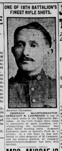 One of the 18th Battalions Finest Rifle Shots January 27 1915 Page 1