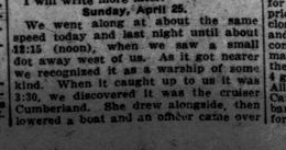 18th Men Had Spendlid Time in Trip Across Atlantic Part 4 London Advertiser May 13 1915 Page 11