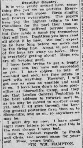 24 Hours After Leaving England Return Wounded Part 3 London Advertiser May 22 1915 Page 3
