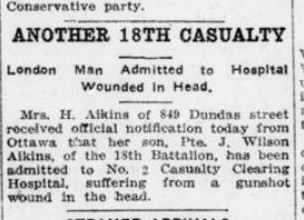 Another 18th Casualty London Advertiser March 16 1916 Page 11