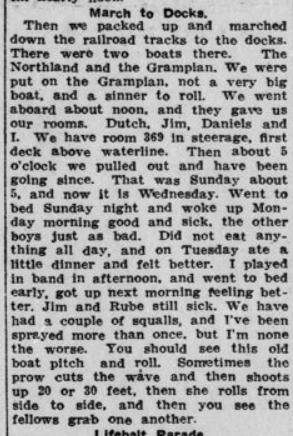 Atlantic Voyage Greatly Enjoyed Part 2 London Advertiser May 21 1915 Page 3
