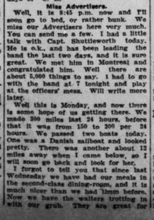 Atlantic Voyage Greatly Enjoyed Part 4 London Advertiser May 21 1915 Page 3