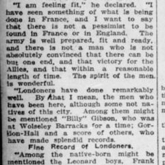 Back in London After 4 Months in the Trenches Ingram Part 2 London Advertiser February 19 1916 Page 4