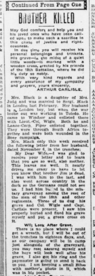 Brother Killed Now Husband Wounded Part 3 London Advertiser December 3 1915 Page 1