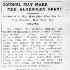Council May Make Mrs Aldersley Grant London Advertiser December 6 1915 Page 3