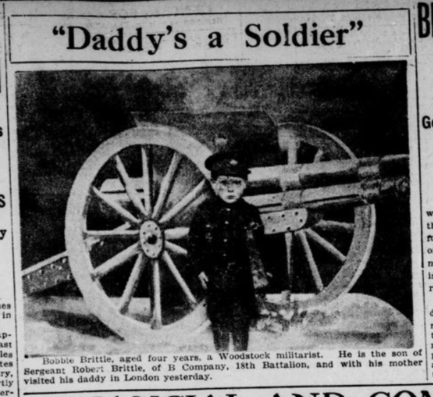 Daddys a Soldier London Advertiser April 16 1915 Page 15