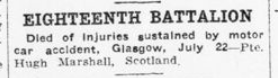Eighteenth Battalion Casualty List Advertiser July 29 1915 Page 12