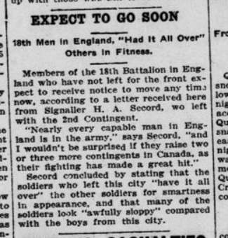 Expect to Go Soon London Advertiser May 27 1915 Page 3