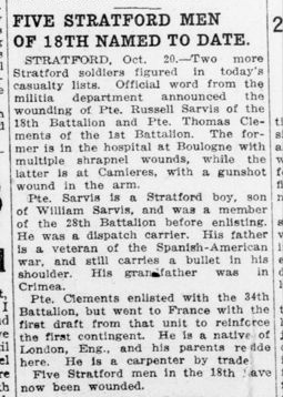 Five Stratford Men of 18th Named to Date London Advertiser October 21 1915 Page 5
