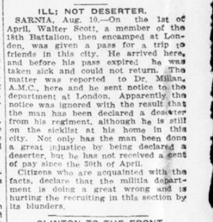 Ill Not a Deseter London Advertiser August 11 1915 Page 12