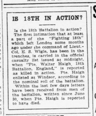 Is 18th In Action London Advertiser July 15 1915 Page 5