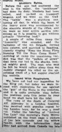 Issued With Respirators 18th Expects to Be On firling Line Before Long Part 4 London Advertiser September 13 1915 Page 12