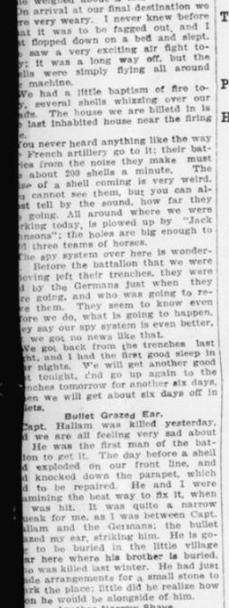 Lieut Gunn Tells of Close Escapes Part 2 London Advertiser December 15 1915 Page 2