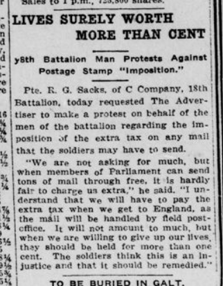 Lieves Surely Worth More Than Cent London Advertiser April 14 1915 Page 11