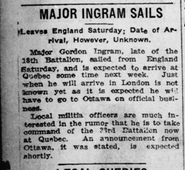 Major Ingram Sails London Advertiser January 31 1916 Page 12