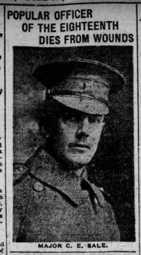 Major Sales of the 18th Popular Goderish Dentist Dies Fighting in France Part 3 London Advertiser January 20 1916 Page 9