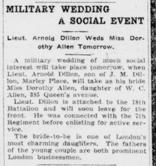 Military Wedding a Social Event London Advertiser March 29 1915 Page 2