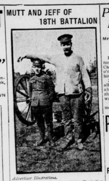 Mutt and Jeff of the 18th Battalion Part 1 London Advertiser March 29 1915 Page 1