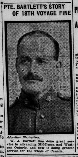 Pte Bartletts Story of the 18th Fine May 12 1915 Page 1