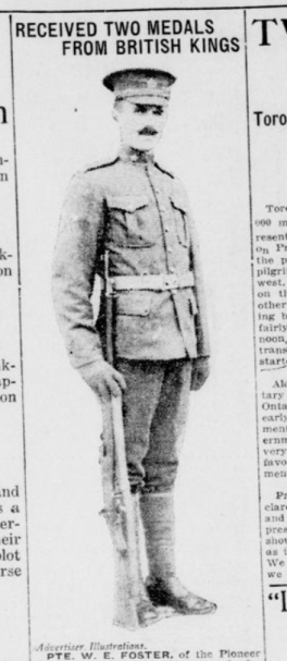 Recieved Two Medals from British Kings Part 1 London Advertiser March 25 1915 Page 1