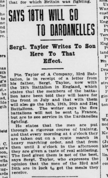 sAYS 18TH Will Go To Dardanelles London Advertiser June 25 1915 Page 4