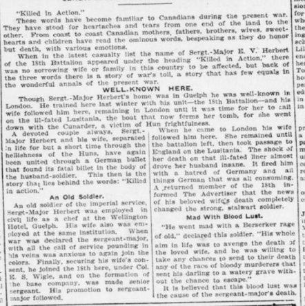 Seperated by Hun Frightfulness United Again by German Bullet Part 2 London Advertiser November 5 1915 Page 4