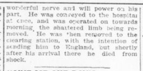 Soldier Who Joined 18th Here Had Great Nerve Part 2 London Advertiser March 29 1916 Page 12