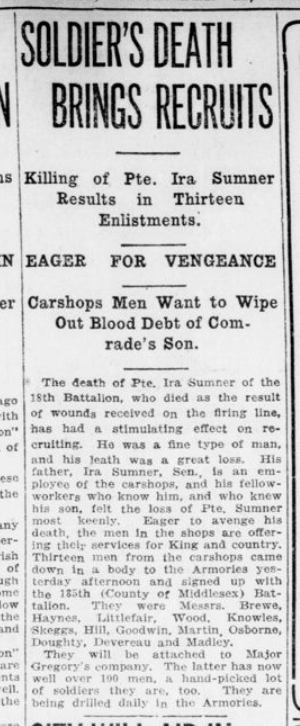 Soldiers Death Brings Recruits London Advertiser December 11 1915 Page 3