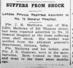 Suffers From Shock Advertiser London Advertiser April 17 1916 Page 3
