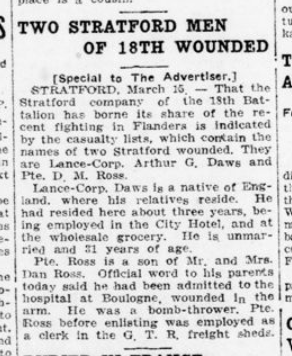 Two Stratford Men of the 18th Wounded London Advertiser March 16 1916 Page 5