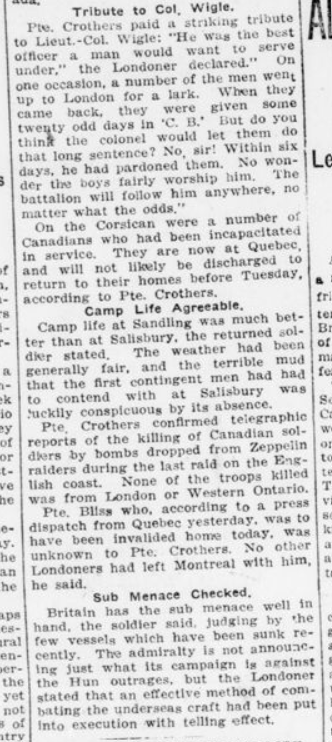 Wound is Between Him and Trenches Part 2 London Advertiser October 30 1915 Page 4