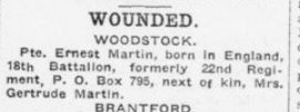 Wounded London Advertiser December 4 1915 Page 11